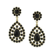 1928® Black Gold-Tone Statement Earrings