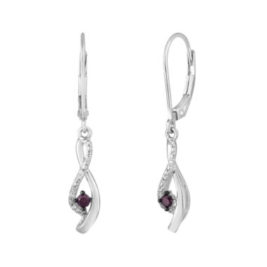 jcpenney.com | LIMITED QUANTITIES1/6 CT. T.W. White and Color-Enhanced Purple Diamond Earrings