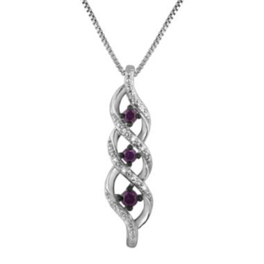 jcpenney.com | LIMITED QUANTITIES 1/5 CT. T.W. White and Color-Enhanced Purple Diamond Sterling Silver Twisting Pendant