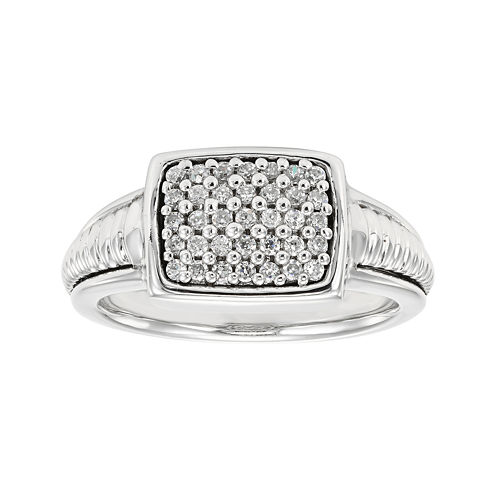 LIMITED QUANTITIES 1/5 CT. T.W. Diamond Sterling Silver Ring