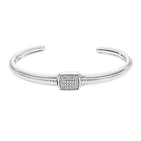 LIMITED QUANTITIES 1/5 CT. T.W. Diamond Sterling Silver Bracelet