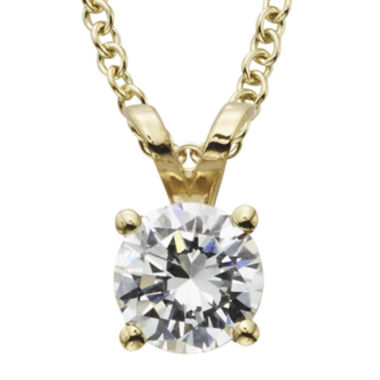 jcpenney.com | ½ CT. Certified Diamond Solitaire Pendant
