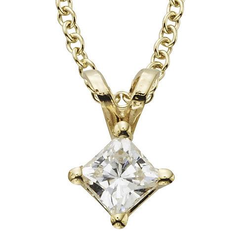 ¼ CT. Certified Diamond Solitaire Pendant