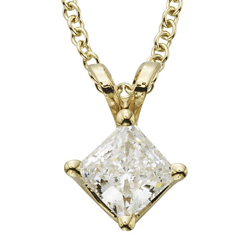 1/2 CT. T.W. Certified Diamond 14K Yellow Gold Pendant