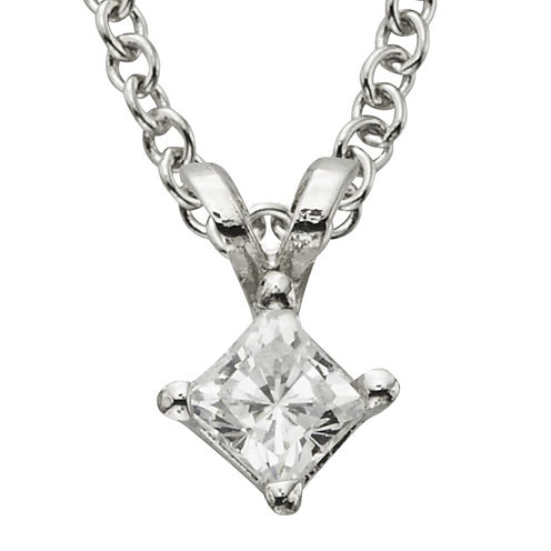 ¼ CT. Certified Diamond Solitaire Pendant