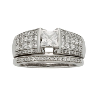 jcpenney.com | 1½ CT. T.W. Certified Diamond 14K White-Gold Bridal Set