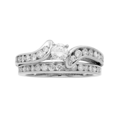 jcpenney.com | 1 CT. T.W. Certified Diamond 14K White-Gold Bridal Set