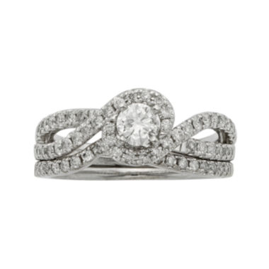 jcpenney.com | 1 CT. T.W. Certified Diamonds 14K White Gold Bridal Ring Set
