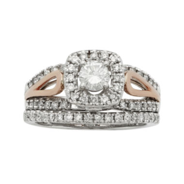 jcpenney.com | 1 CT. T.W. Certified Diamonds 14K Two-Tone Gold Bridal Ring Set