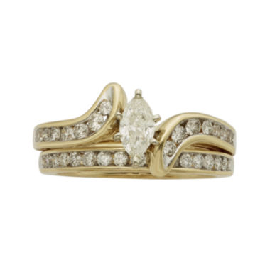 jcpenney.com | 1 CT. T.W. Certified Diamond 14K Yellow-Gold Bridal Set