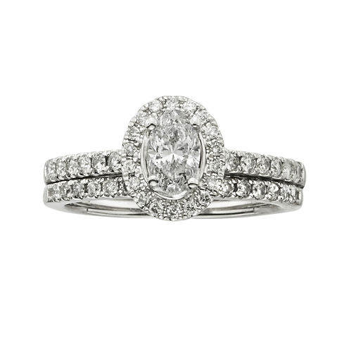 Certified Diamond 1 CT. T.W. Certified Diamond 14K White Gold Bridal Set