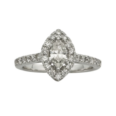 jcpenney.com | 1CT. T.W. Certified Diamond 14K White-Gold Engagement Ring