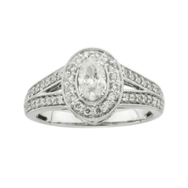 jcpenney.com | Certified Diamonds 1 CT. T.W. Diamond 14K White Gold Oval Engagement Ring
