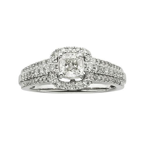 Certified Diamonds 1 CT. T.W. Diamond 14K White Gold Engagement Ring