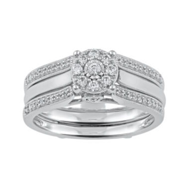 jcpenney.com | Cherished Hearts™ 1/3 CT. T.W. Diamond 14K White Gold Bridal Ring Set