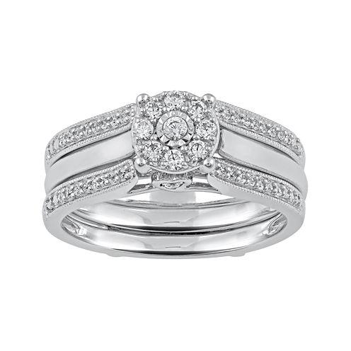 Cherished Hearts™ 1/3 CT. T.W. Diamond 14K White Gold Bridal Ring Set