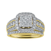 Cherished Hearts™ 1½ CT. T. W. Diamond14K Two-Tone Gold Bridal Ring Set