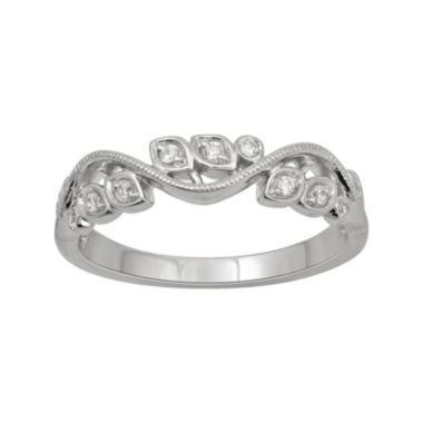 jcpenney.com | Botanical Bridal 1/10 CT. T.W. Diamond 14K White Gold Band