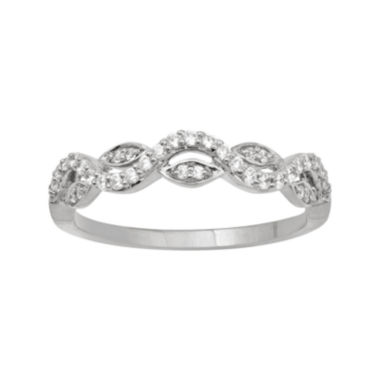 jcpenney.com | Botanical Bridal 1/4 CT. T.W. Diamond 14K White Gold Band