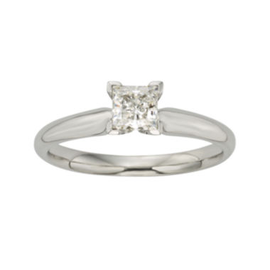 jcpenney.com | 1/2 CT. Certified Diamond 18K White Gold Solitaire Ring