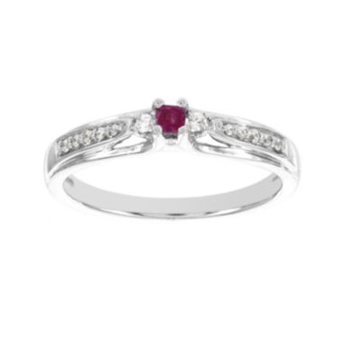 jcpenney.com | Lumastar Lead Glass-Filled Ruby and Diamond-Accent Promise Ring