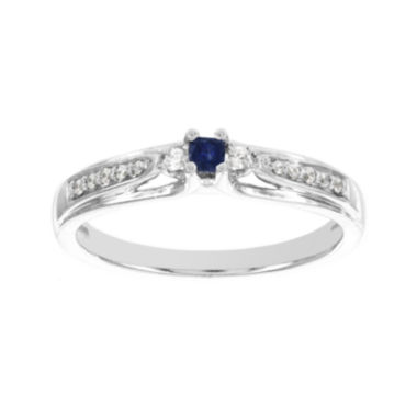 jcpenney.com | Lumastar Genuine Sapphire Diamond-Accent 10K White Gold Promise Ring