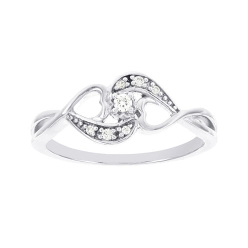 Lumastar Diamond-Accent Sterling Silver Promise Ring