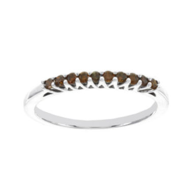 jcpenney.com | 1/5 CT. T.W. Color-Enhanced Red Diamond Sterling Silver Band