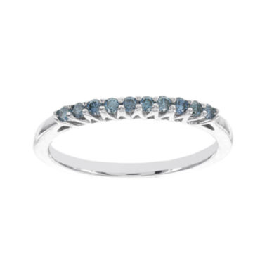 jcpenney.com | 1/5 CT. T.W. Color-Enhanced Blue Diamond Band