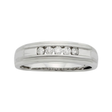 jcpenney.com | Mens 1/4 CT. T.W. Certified Diamond 14K White Gold Band Ring