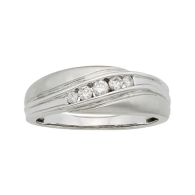 jcpenney.com | Mens 1/4 CT. T.W. Certified Diamonds 14K White Gold Band Ring