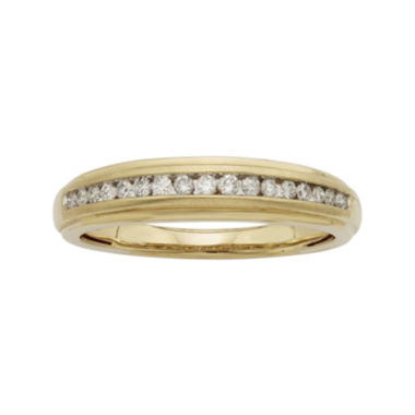 jcpenney.com | 1/4 CT. T.W. Certified Diamonds 14K Yellow Gold Band Ring