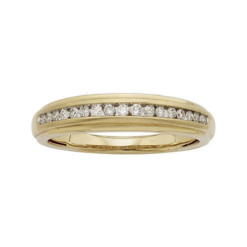 1/4 CT. T.W. Certified Diamonds 14K Yellow Gold Band Ring