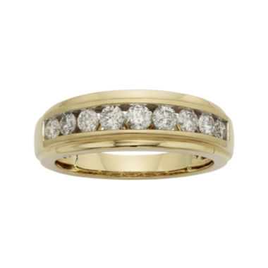 jcpenney.com | Mens 1/2 CT. T.W. Certified Diamond 14K Yellow Gold Band