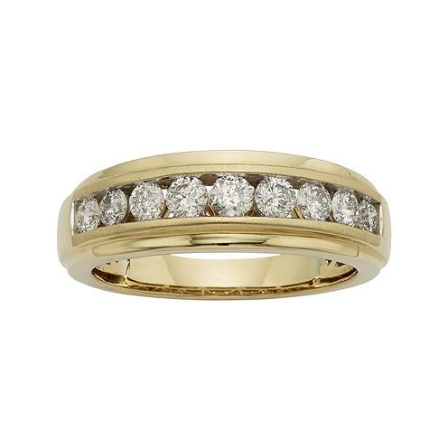 Mens 1/2 CT. T.W. Certified Diamond 14K Yellow Gold Band
