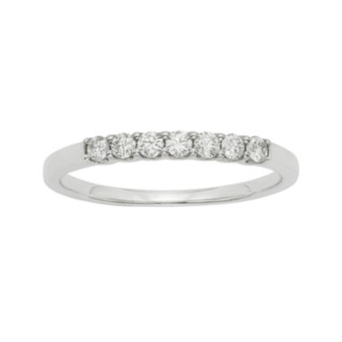 jcpenney.com | 1/4 CT. T.W. Certified Diamonds 14K White Gold Wedding Band Ring
