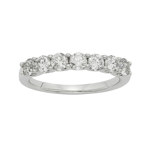 3/4 CT. T.W. Certified Diamond 14K White Gold Wedding Band Ring