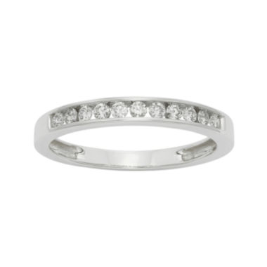 jcpenney.com | 1/4 CT. T.W. Certified Diamond 14K White Gold Wedding Band Ring