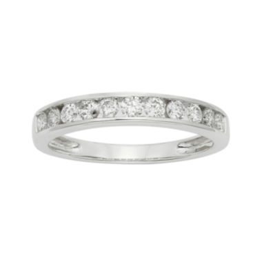 jcpenney.com | 1/2 CT. T.W. Certified Diamond 14K White Gold Wedding Band Ring