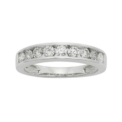 3/4 CT. T.W. Certified Diamond 14K White Gold Wedding Band Ring
