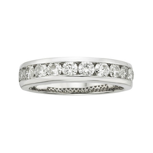 1 CT. T. W. Certified Diamonds 18K White Gold Band Ring