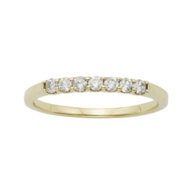 jcpenney.com | 1/4 CT. T.W. Certified Diamond 14K Yellow Gold Wedding Band Ring