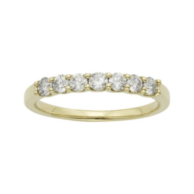 jcpenney.com | 1/2 CT. T.W. Certified Diamonds 14K Yellow Gold Wedding Band Ring