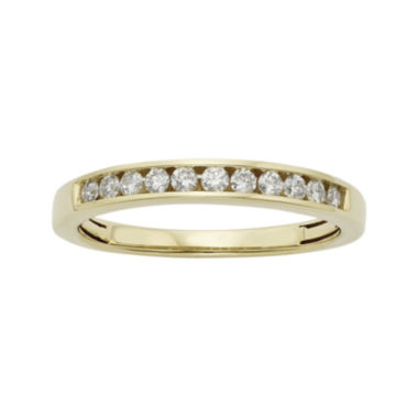jcpenney.com | 1/4 CT. T.W. Certified Diamonds 14K Yellow Gold Wedding Band Ring