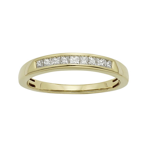 1/4 CT. T.W. Certified Diamonds 14K Yellow Gold Wedding Band Ring