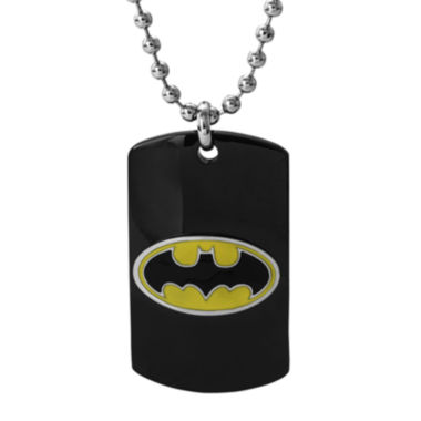 jcpenney.com | DC Comics® Black Stainless Steel Batman Dog Tag Pendant