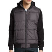 Surplus Long-Sleeve Puffer Hooded Jacket