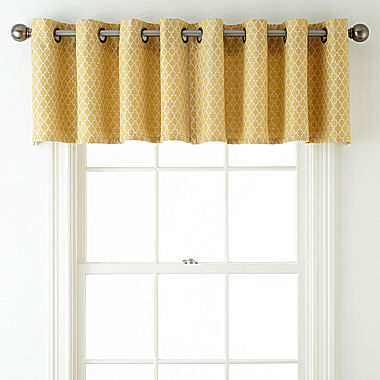 Jcpenney Home Rory Grommet Top Tailored Valance Jcpenney