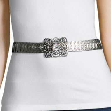 jcpenney.com | Text Stretch Metal Filigree Buckle