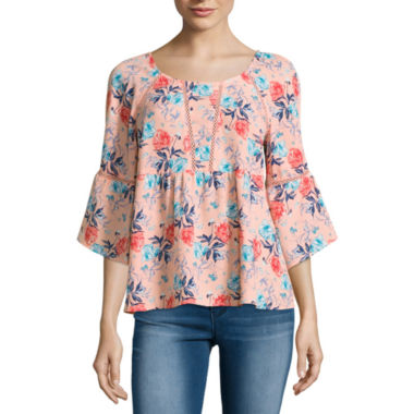 jcpenney.com | Decree Long Sleeve Round Neck Blouse-Juniors
